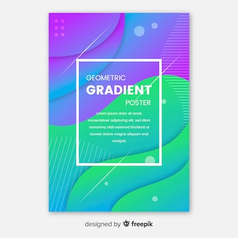 Modelo de cartaz de gradiente