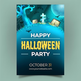 Modelo de cartaz de halloween