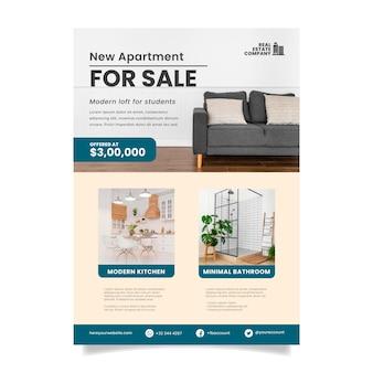 Modelo de cartaz de imóveis com foto