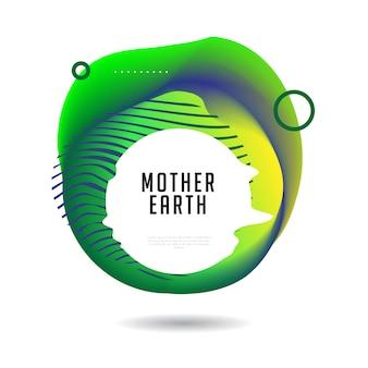 Modelo de cartaz de mãe terra