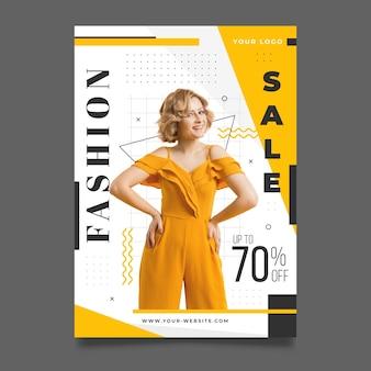 Modelo de cartaz de moda com foto