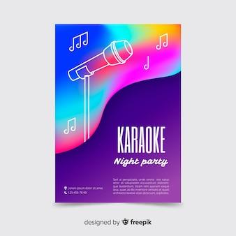 Modelo de cartaz de música ao vivo abstrata