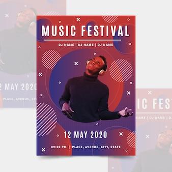Modelo de cartaz de música com foto