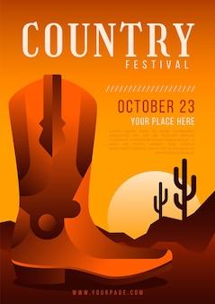 Modelo de cartaz de música country