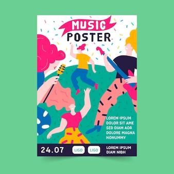 Modelo de cartaz de música criativa