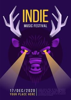 Modelo de cartaz de música indie