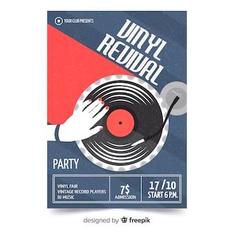 Modelo de cartaz de música retrô