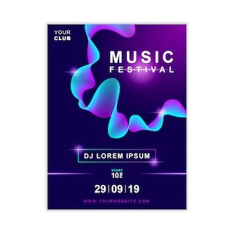 Modelo de cartaz de música