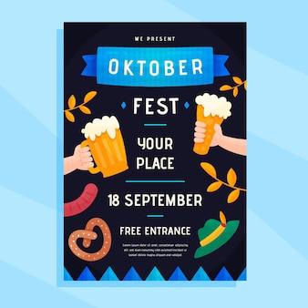 Modelo de cartaz de oktoberfest
