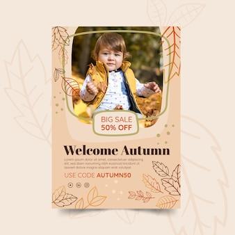 Modelo de cartaz de outono Vetor grátis
