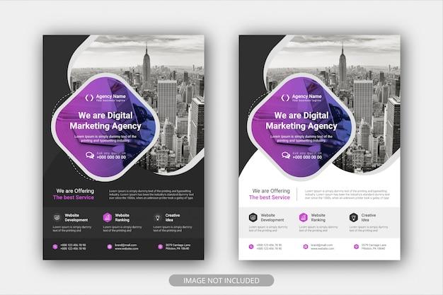 Modelo de cartaz de panfleto de negócios corporativos com gradiente de cor. fundo de layout de design de capa brochura
