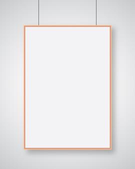 Modelo de cartaz de papel de estilo moderno d realista em vetor de design moderno de fundo cinza