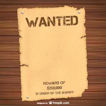 Modelo de cartaz de procurado