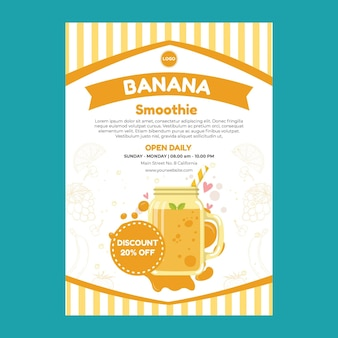 Modelo de cartaz de smoothie