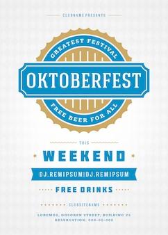 Modelo de cartaz de tipografia oktoberfest