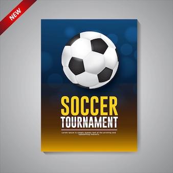 Modelo de cartaz de torneio de futebol de design