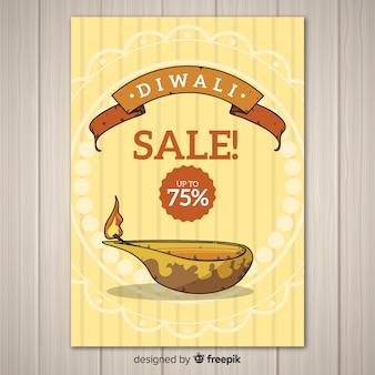 Modelo de cartaz de venda de diwali