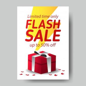 Modelo de cartaz de venda em flash