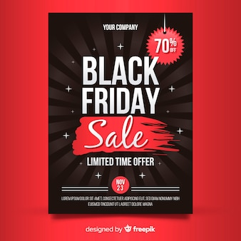 Modelo de cartaz de vendas de sexta-feira negra