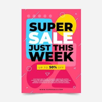 Modelo de cartaz de vendas plano