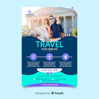 Modelo de cartaz de viagens com foto