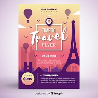 Modelo de cartaz de viagens de torre