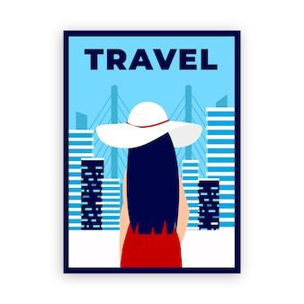 Modelo de cartaz de viagens