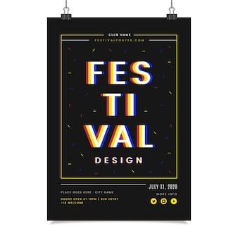 Modelo de cartaz design festival