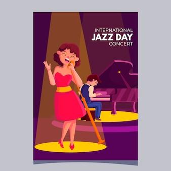 Modelo de cartaz do dia internacional do jazz