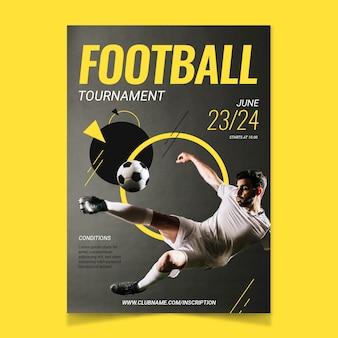 Modelo de cartaz do esporte
