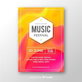 Modelo de cartaz do festival de música abstrata
