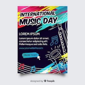 Modelo de cartaz do festival de música