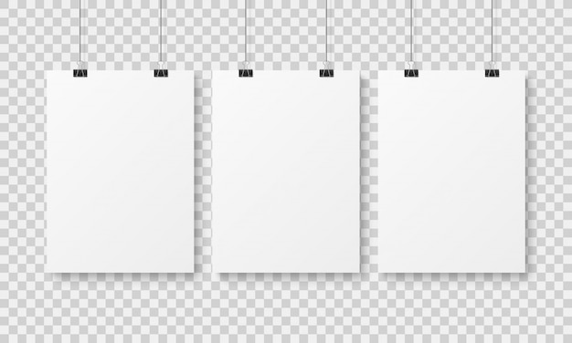 Modelo de cartaz em branco branco.