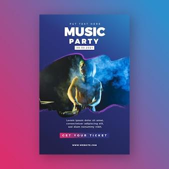 Modelo de cartaz - evento de música 2021