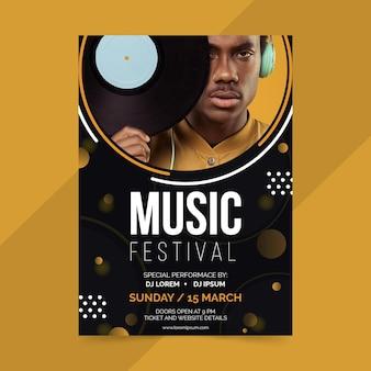 Modelo de cartaz - evento de música