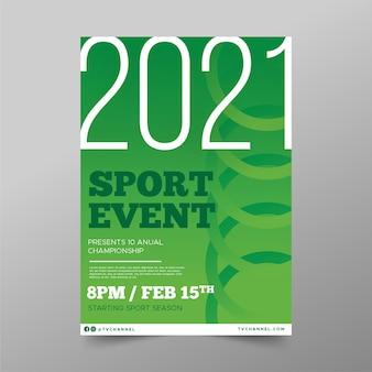 Modelo de cartaz - evento esportivo de círculos verdes