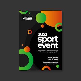 Modelo de cartaz - evento esportivo