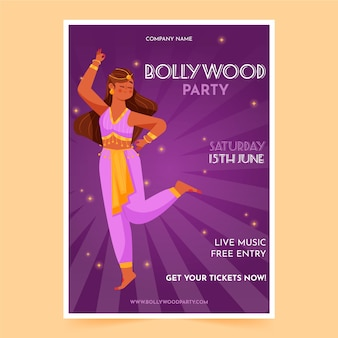 Modelo de cartaz - festa de bollywood