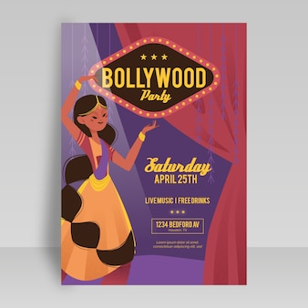 Modelo de cartaz - festa de bollywood