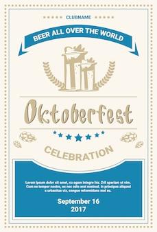 Modelo de cartaz - festival da cerveja de oktoberfest