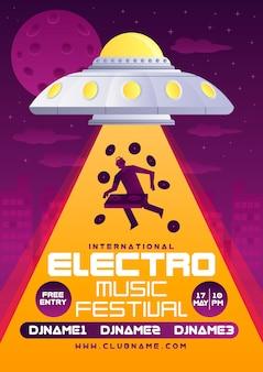 Modelo de cartaz festival de música eletrônica
