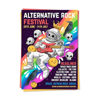 Modelo de cartaz festival de música