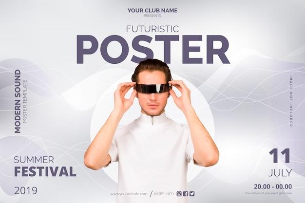 Modelo de cartaz - futurista