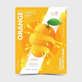 Modelo de cartaz laranja