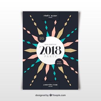 Modelo de cartaz moderno para festa de ano novo