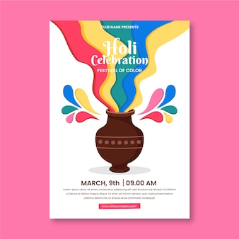 Modelo de cartaz - panfleto festival holi