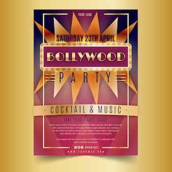 Modelo de cartaz para festa de bollywood
