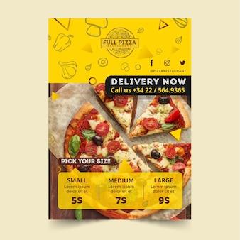 Modelo de cartaz para restaurante de pizza