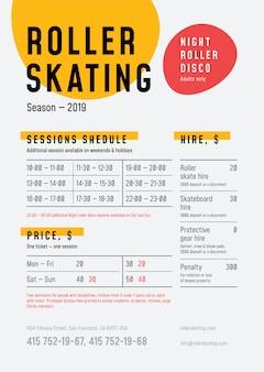 Modelo de cartaz - patinação