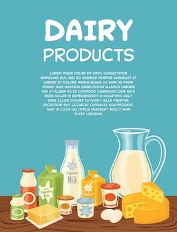 Modelo de cartaz - produtos lácteos
